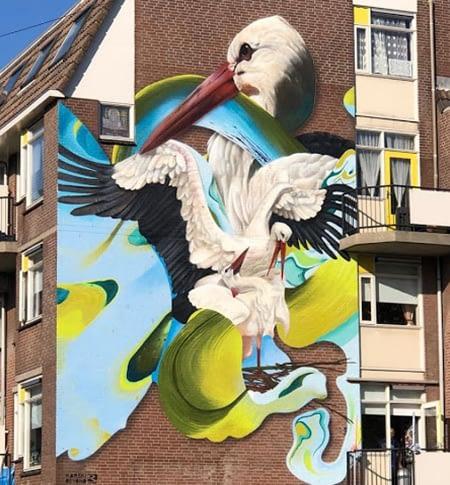 Streetart in de Binckhorst